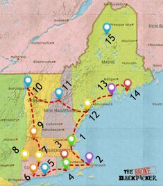 Epic New England Road Trip Guide for 2019 [Including Fall Foliage!] - - Epic New England Road Trip Guide for 2019 [Including Fall Foliage!] I want to go there EPIC New England Road Trip Guide for May 2019 New England Usa, New England Fall, New England Travel, Oxford England, London England, East Coast Travel, East Coast Road Trip, Rv Travel, Travel Maps