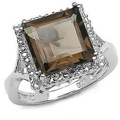 @Overstock - Click here for Ring Sizing Chart Lovely sterling silver jewelryGenuine smokey quartz ring http://www.overstock.com/Jewelry-Watches/Sterling-Silver-Genuine-Smokey-Quartz-Ring/3693612/product.html?CID=214117 $41.84