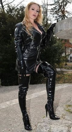 Leather And Lace, Leather Boots, Patent Leather, Latex Pants, Vinyl Clothing, Sexy Heels, Sexy Outfits, Lady, Shoe Boots