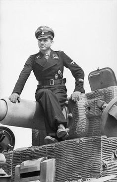 German Panzer Ace Waffen SS Captain Michale Wittman single handedly destroyed a British Battalion at Villers Bocage in his Tiger Tank - later killed by British and Canadian tanks, he was a daring tank commander