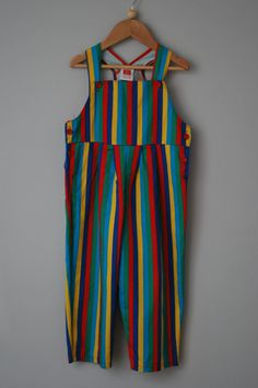 Striped dungarees for by LostPropertyVintage, £8.00
