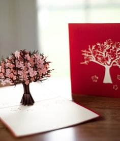Surprise them with flowers that pop up into life out of this amazing card. Give this card and LovePop and the Arbor Day Foundation will plant a tree. Arbor Day 2015.