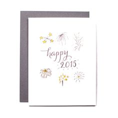 happy 2015 letterpress holiday cards set of 6 by wildinkpress happy 2015 new year card