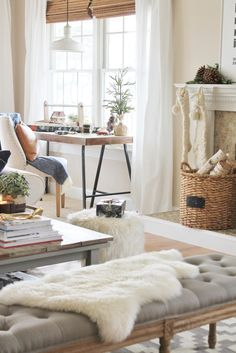 Cozy Christmas Cabin Holiday House Tour-City Farmhouse
