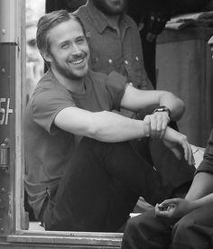 Ryan Gosling smiling.