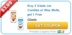 Buy 2 Glade Jar Candles or Wax Melts, get 1 Free