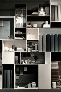 various shape and size pigeon hole shelves
