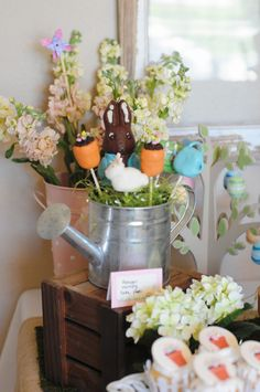 Peter Rabbit chocolate bunny and watering can