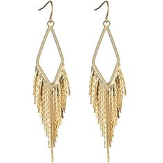Boho Earrings ($68) ❤ liked on Polyvore featuring jewelry, earrings, accessories, bijoux, joias, 14 karat gold earrings, bohemian earrings, boho earrings, bohemian style earrings and long earrings