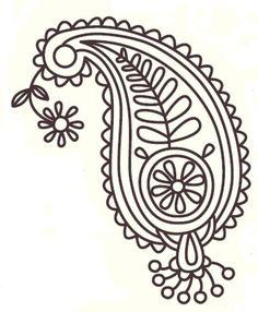 Paisley Pattern Design | Royce's Hub: Free Embroidery Pattern : Paisley