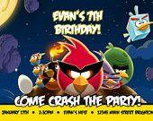 Angry Birds Space Inspired Birthday Invite  Customizable  DIY Printing