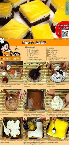 Fanta Dessert recipe with video. Detailed steps on how to prepare this easy and simple Fanta Dessert recipe! Brunch Recipes, Cake Recipes, Dessert Recipes, Delicious Desserts, Yummy Food, Hungarian Recipes, No Bake Cake, Food Hacks, Food Videos