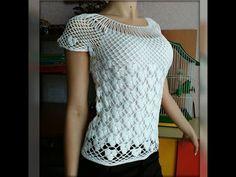 Braided crochet summer blouse - YouTube