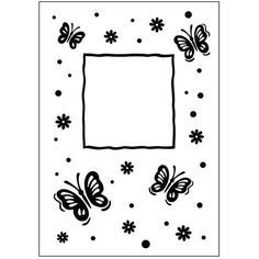 Darice® Embossing Folder - Butterfly Frame - 4.25 x 5.75 inches, scrapbooking, card making, greeting cards, invitations and more #ScrapbookSupplies #DariceEmbossing #EmbossingFolder #emboss #supplies #scrapbooking #dies #CardMaking #stamping #embossing