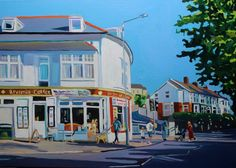Outside Brynmill Coffee House (Swansea painting) by Emma Cownie. Online Gallery, Art Gallery, Rise Art, Time Painting, Urban Setting, Swansea, Buy Prints, Exterior Paint, Paintings For Sale