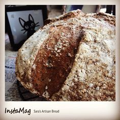 80% hydration, 20% leaven, 80% white, 10% wholewheat, 5% pumpernickel, 5% Rye, 2% salt, 20g black & white sesame, 20g walnuts, mixed herbs, restarted 14 hrs #countrybread #wholewheat #Tartine #Sourdough #sesame #pumpernickel #Rye #herb