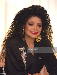 Portrait of American pop singer La Toya Jackson, New York, New York, 1990s.