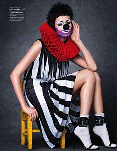 Foto Fashion, Fashion Moda, High Fashion, Fancy Dress, Dress Up, Circus Fashion, Pierrot Clown, Dark Circus, Mode Costume