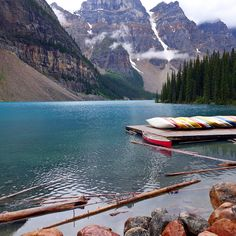 Moraine Lake, Alberta, Canada in Banff National Park