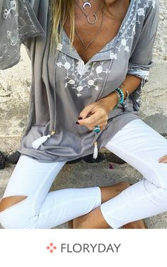 105ea22c65e30 Color Block Casual Polyester V-Neckline Long Sleeve Blouses - Floryday
