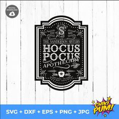 Hocus Pocus Apothecary | The Sanderson Sisters | Sublimation Design | SVG for Cricut and Silhouette |Instant Digital
