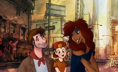 Oliver and company  Charming Illustrations Reimagine Disney Animal Characters as Humans - My Modern Met