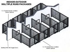 kennel from carport- could totally do this is as separate ...