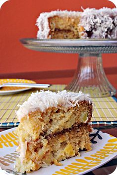 Pineapple Cake with Coconut Topping