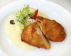 Denné menu Vranov   Vyprážaný kurací rezeň gordon blue, zemiaková kaša - reštaurácia Hotel Patriot*** #hotel #restaurant