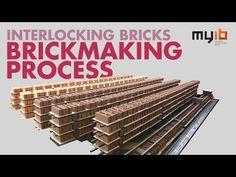 Building houses with interlocking bricks - YouTube