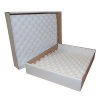 White foam lined postal boxes