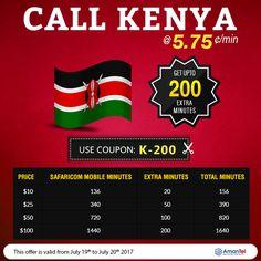 #KenyaCalling Offer @5.75 Cent/Min - Amantel Is Offering Kenya International Calling Plans - http://amantel.com/offers/call-Kenya-19-July-2017.html  #CallKenya #CallKenyaCheap #HowToDialKenya #KenyaCall
