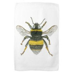 Bumble Bee Kitchen Towel Have a passion for bumble bees? This tea towel with a realistic, almost scientific, bumble bee illustration would be fit to display your belief in saving the bees. This would also make a brilliant gift to a worker bee friend or nature loving family member. Matching products available on my Zazzle store. The artwork is a made by Natasha Hutton who lives in the small town of Frome in England. She uses pencil, pastel and oil to create her images.