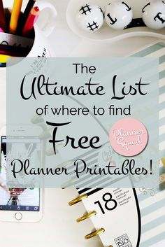 ultimate list of where to find free planner printables