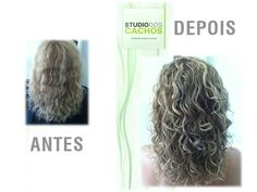 Cachos. Antes e Depois de um corte. www.studiodoscachos.com.br