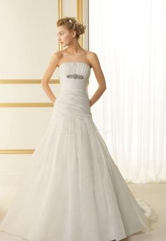 A-line Luna Novias 110 Tamay Floor Length Long Wedding Dress [P0014755] | jjdress.net