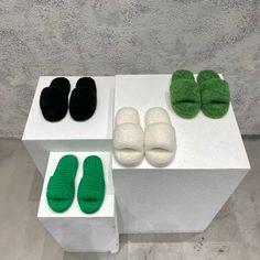 Bottega Veneta BV woolen slides causal fur slippers
