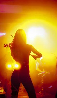 Violin performance.