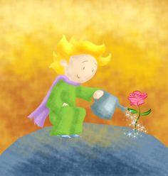 O Pequeno Princípe e a rosa