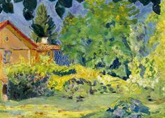 Pierre Bonnard (1867-1947) Maison rose au treillage, Le Grande-Lemps (c. 1915) oil on canvas 43.2 x 58.2 cm