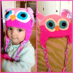 Amazon *HOT* Owl Crochet Hat in Pink or Green and Blue Only $5.19 + FREE Shipping