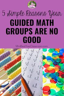 Guided Math is a fantastic teaching structure, but your groups don't work. Here are five simple reasons your Guided Math groups are no good. Classroom Management Strategies, Teaching Strategies, Classroom Resources, Math Resources, Teaching Math, Math Activities, Guided Math Groups, Group Dynamics, 3rd Grade Classroom