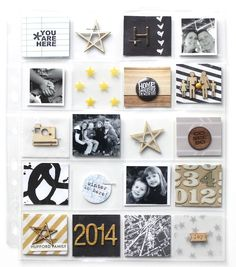 Project Life 2014 Cover Page by jlhufford at @Studio_Calico Love everything about this!