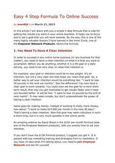 easy-4-step-formula-to-online-success by Sander van Dijk via Slideshare