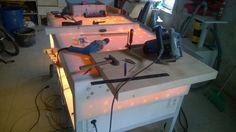 pracovní stůl - noční podsvícení