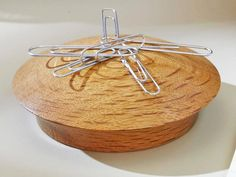 Mysteriously, metal paper clips cling to the top of this wood turning. The secret, of course is a rare-earth magnet tucked away just below the domed top. With a cleverly hidden and nearly invisible joint, friends and coworkers will wonder how you got the magnet in there. - See more at: https://www.woodstore.net/plans/gifts/office-accessories/359-Paper-clip-Caddy.html#sthash.rgMV30y8.dpuf