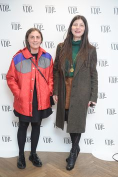 Thanks to Elisa Zaccanti and Valentina Serra,  for visiting us during our #VDPevent! #mfw #MilanFashionWeek #VogueItalia
