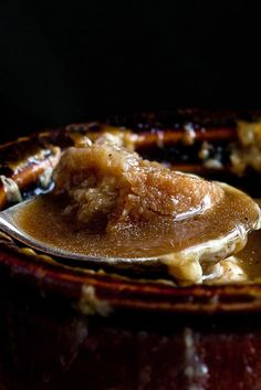 One-Pot French Onion Soup With Garlic-Gruyère Croutons Recipe - NYT Cooking Crouton Recipes, Soup Recipes, Cooking Recipes, Recipies, Jamaican Oxtail Stew, Soup Appetizers, Hot Soup, Smoked Bacon, Onion Soup