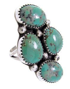 Native American Turquoise And Sterling Silver Ring Size 8-1/2 BW69662 http://www.silvertribe.com