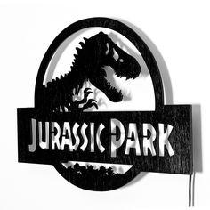 Jurassic Park Logo Wall Light